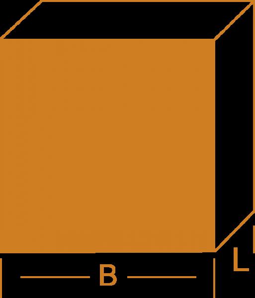 Vierkantstange - Messing