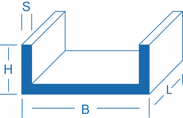 U-Profil - Aluminium