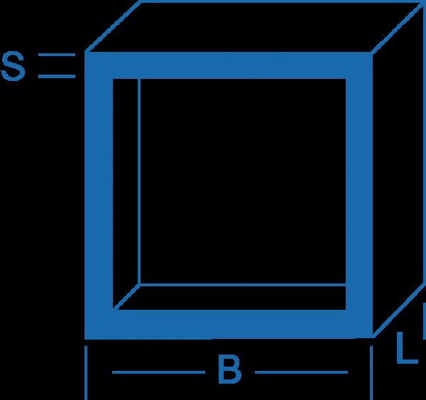 Vierkantrohr - Aluminium